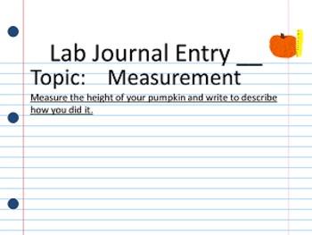 Observation Journal: (Pumpkin Studies)