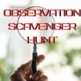 Observation Scavenger Hunt