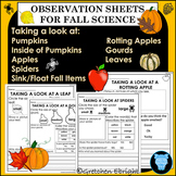 Observation Sheets for Fall Science - Leaves, Apples, Gour