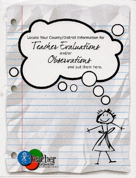 Observation and Evaluation pages from the Essential Teacher Organizer