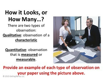 Observation and Inference PowerPoint and Notes - Scientific Method