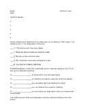 Observation and Inference Quiz