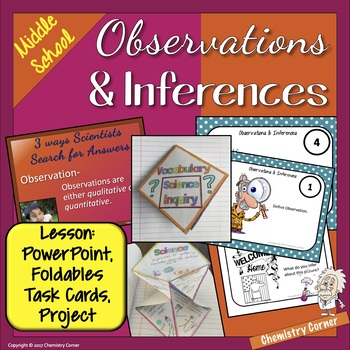 Observation and Inference- Science Lesson