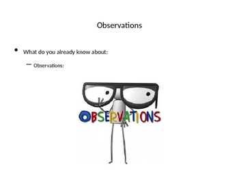 Observation and Inferences Ppt