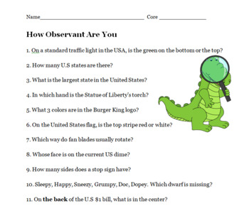 Observation and Inference Science Lesson -- PP, Notes, Activities, Worksheets