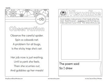 Observation - ob Word Family Poem of the Week