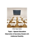 Observation of Secondary Student with Intellectual Disability
