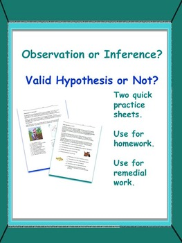 Observation or Inference? and Valid Hypothesis or Not?