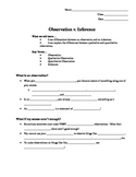 Observation v. Inference PPT Notes Outline by Zie