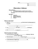 Observation v. Inference PPT Notes Outline by Zie