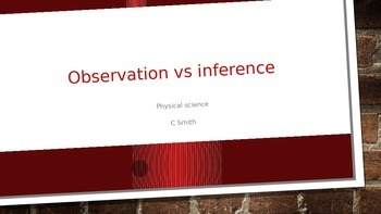 Observation verses Inference Notes and Game O vs I fill in
