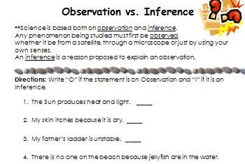 Observation versus Inference   what's the difference  by MAB   TpT as well  moreover  furthermore Medium To Large Size Of Lesson Plan Outline Portfolio Inferences On likewise  also  besides Observation Worksheet Precepts For Life Study Guide Download moreover Science Observations Worksheets I Even Created Printable Recording together with Making Inferences and Observations Worksheet by Ashley Fotopoulos further inference worksheets middle pdf together with inference worksheets middle likewise  moreover The Goat by the Water'   Observation vs Inference  Originally named additionally  moreover  together with 7th grade inference worksheets. on science observation and inference worksheet