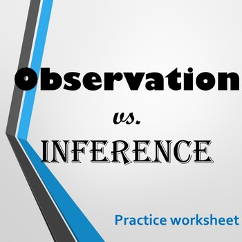 Observation vs. Inference (Practice Sheet)