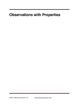 Observation with Properties
