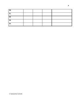 Observational Assessment Recording Sheet