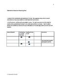 Observational Assessment Recording Sheet