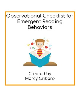 Observational Checklist:  Emergent Reading Behaviors