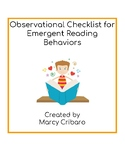 Observational Checklist:  Emergent Reading Behaviors