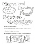 Observational Drawing: Gesture and Contour exercises