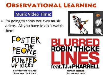 Observational Learning / Social Learning PowerPoint