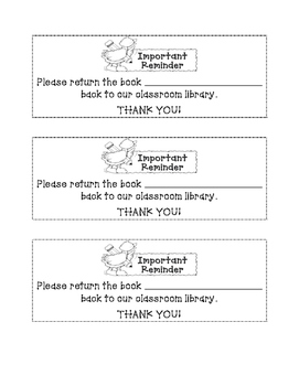 Lending Library Reminder