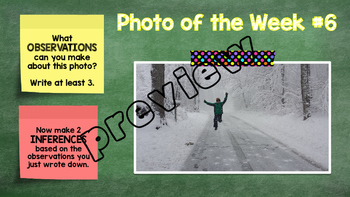 Observations & Inferences Activity - Photo of the Week