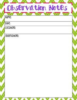 Observation Notes Page