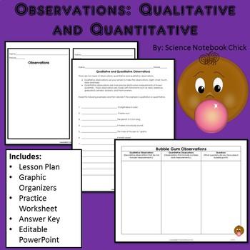 Observations Qualitative and Quantitative