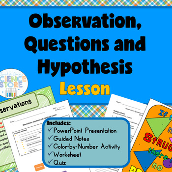 Observations, Questions and Hypothesis Lesson