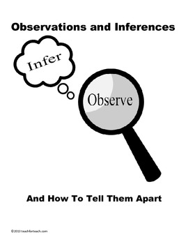 Observations Vs. Inferences And How To Tell Them Apart