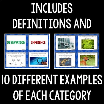 Observations and Inferences Card Sort