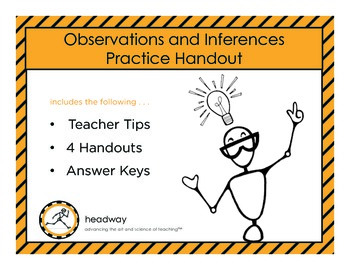 4 Observations & Inferences Handouts & Worksheets