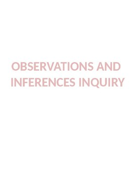 Observations and Inferences Inquiry