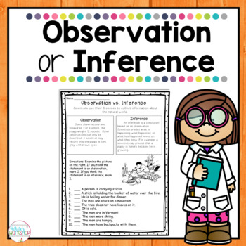 Observations Vs Inferences By White S Workshop Tpt