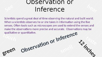 Observations vs. Inferences Powerpoint