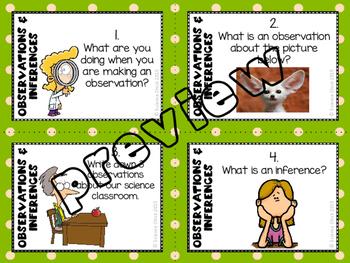 Observations & Inferences Task Cards