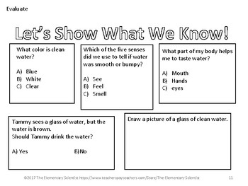 Observing Water with my Five Senses