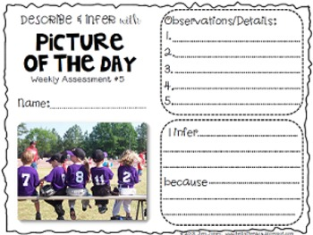 "Describing & Inferring Details with Picture of the Day: Reading Photos ""Closely"""