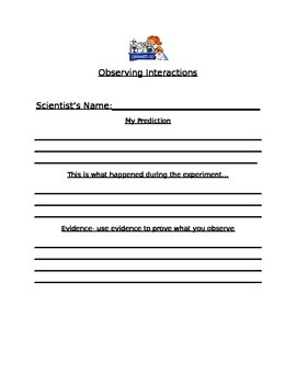 Observing Interactions Recording Sheet