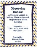 Observing Properties of Rocks - Gr 4/5/6