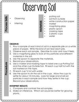 Observing Soil Investigation Notebook