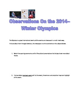 Observing The Winter Olympics