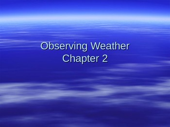 Observing Weather PowerPoint