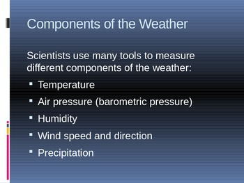 Observing and Measuring Weather - Tools