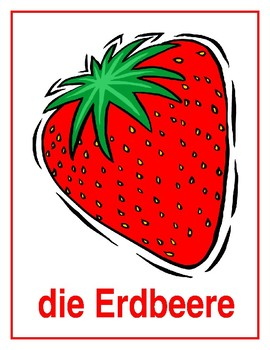 Obst (Fruit in German) Posters