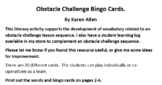 Obstacle Challenge Bingo Game Cards to support PE vocabulary.