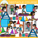 Obstacle Course Clip Art {Whimsy Clips Kids In Action Clip Art}
