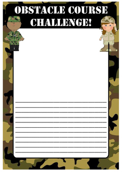 Obstacle course/Army challenge recount writing