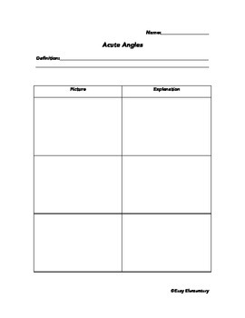 Obtuse, Acute, and Right Angles in the School