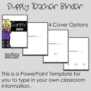 Occasional Teacher Binder {Editable}